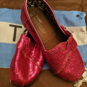 Toddler Girl Sparkly Toms Shoes